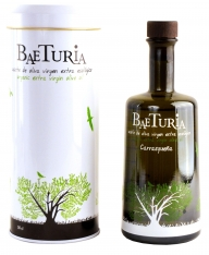 Extra virgin olive oil organic Carrasquena Baeturia + case