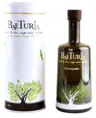 Extra virgin olive oil organic Carrasquena Baeturia + case