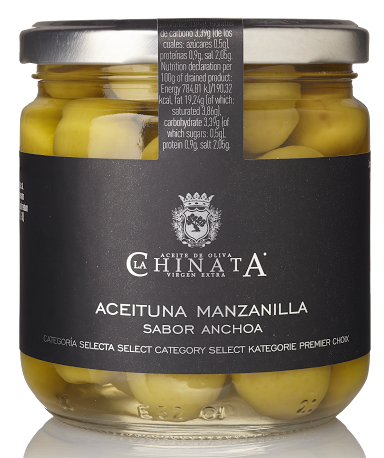 Manzanilla olives in oil with anchovy flavor La Chinata image #1