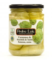Whole artichoke hearts from Tudela D.O Pedro Luis