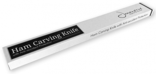 Ham carving knife with anti-accident protection for right-handed and left-handed users image #4