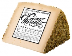 Rosemary sheep's cheese wedge Gómez Moreno