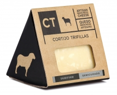 Semi-firm Manchego cheese wedge CT