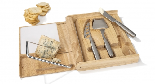 Box set of cheese cutting knives and lyre Steelblade image #1
