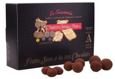 Nuts and three chocolates Turrones Primitivos