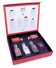 Ibérica premium box Regional Co - saffron, organic paprika, pepper, and Mediterranean sea salt