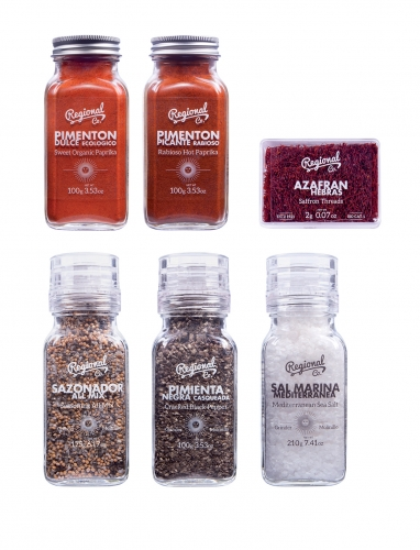 Ibérica premium box Regional Co - saffron, organic paprika, pepper, and Mediterranean sea salt image #2