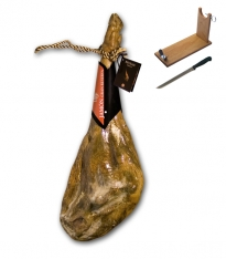 Serrano ham white bodega grand reserve Revisan + ham holder + knife