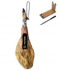 Ibérico ham 100% pure acorn-fed Altadehesa + ham stand + knife