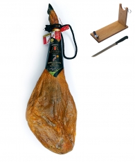 Iberico ham acorn-fed DO Guijuelo Revisan + ham holder + knife
