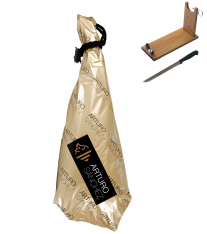 Iberico ham acorn-fed grand reserve Arturo Sánchez + ham holder + knife