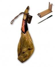 Iberico ham acorn-fed certified Revisan + ham holder + knife