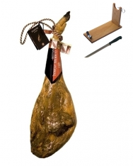 Iberico ham acorn-fed DO Guijuelo Revisan + ham holder + knife