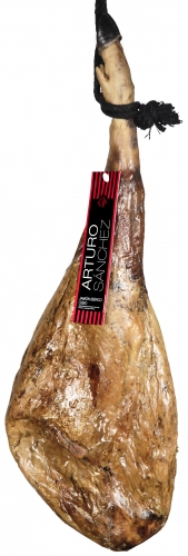 Iberico ham grain-fed Arturo Sánchez + ham holder + knife image #3