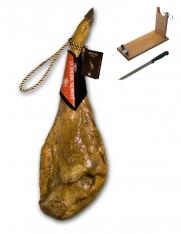 Iberico ham grain-fed certified Revisan + ham holder + knife
