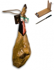 Iberico ham grass-fed Guijuelo Revisan + ham holder + knife