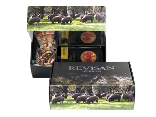 Iberico ham grass-fed Revisan sliced - premium box image #1