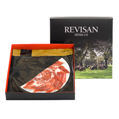 Iberico ham grain-fed Revisan hand-cut - premium box