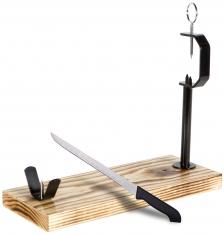 Ham Stand and Carving Knife Jáen Buarfe - Spanish Jamonero Ham Holder