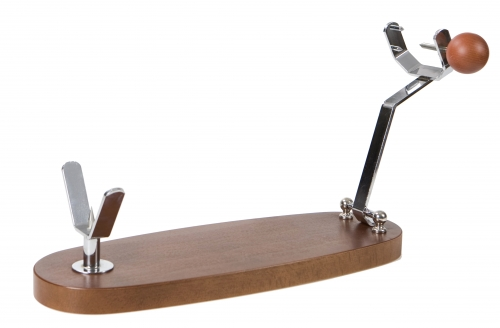 Folding Beech and Walnut Ham Stand Buarfe - Spanish Jamonero Ham Holder image #1