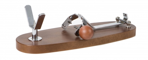 Folding Beech and Walnut Ham Stand Buarfe - Spanish Jamonero Ham Holder image #2