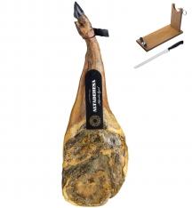 Ibérico ham (shoulder) 100% pure acorn-fed Altadehesa + ham stand + knife