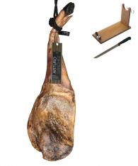 Ibérico ham (shoulder) 100% Pure acorn-fed grand reserve Arturo Sánchez + ham stand + knife