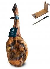 Ibérico ham (shoulder) 100% acorn-fed Sánchez Romero Carvajal + ham stand + knife