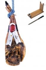 Ibérico ham (shoulder) grain-fed centenario Sánchez Bermejo + ham stand + knife