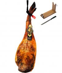 Iberico ham (shoulder) acorn-fed special reserve Arturo Sánchez + ham holder + knife
