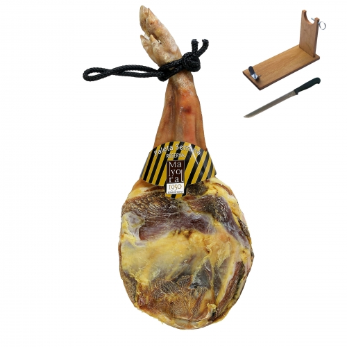 Serrano ham (shoulder) mountain reserve Mayoral + ham holder + knife image #1