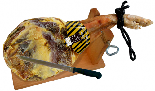 Serrano ham (shoulder) mountain reserve Mayoral + ham holder + knife image #2