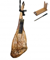 Pure 100% Iberico ham acorn-fed grand reserve Arturo Sánchez + ham holder + knife