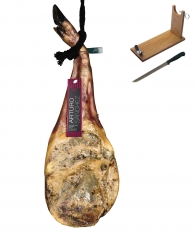Iberico ham (shoulder) grain-fed Arturo Sánchez + ham holder + knife