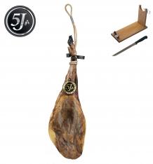 Whole 100% iberico ham acorn-fed Cinco Jotas - 5J + ham holder + knife