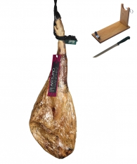Iberico ham grain-fed Arturo Sánchez + ham holder + knife