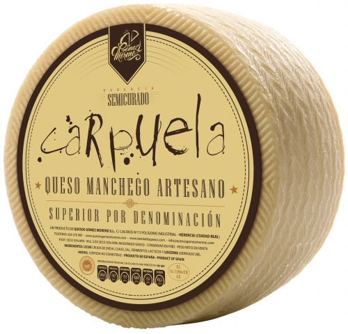 Small semicured DO Manchego cheese Carpuela image #1